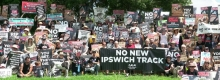 Greyhound Racing Protest at Ipswich - Feb 2020