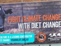 Fight Climate Change with Diet Change billboard
